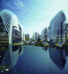 「南京証大ヒマラヤセンター」は住宅、ビジネス、ショッピングなどの機能を有した複合施設。