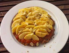 Basischer Mandelkuchen mit Apfel