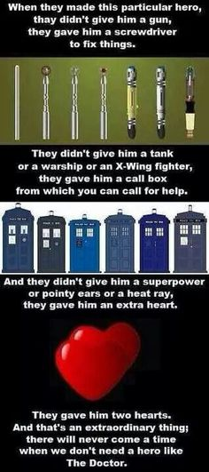 And people wonder why Doctor Who is one of the greatest characters created. This is partially why.