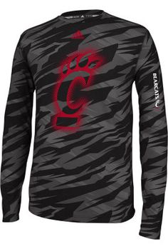 Product: Adidas University of Cincinnati Bearcats Perfomance Fitted Long Sleeve T-Shirt $42