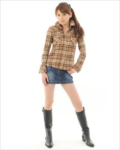 Sexy Boots, High Boots, Black Boots, Knee Boots, Mode Lolita, Crown Princess Mary, Jean Skirt, Jeans And Boots, Asian Girl
