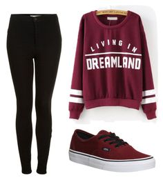 """""""Untitled #425"""" by c00ckie-lipa ❤ liked on Polyvore featuring Vans and Topshop"""