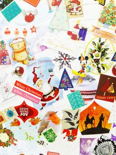 Christmas Collage pack Holidays Embellishments by PeonyandThistle