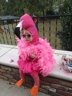 Awesome Kids Halloween Flamingo Costumes!