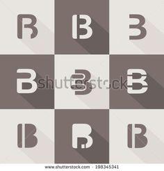 letter B design element