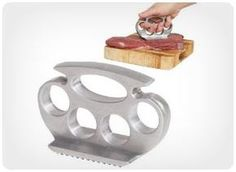 Knucle Meat Tenderizer    Feeling a little animosity toward tonight's dinner? Pound it out with the Knuckle Meat Tenderizer. This is a legitimate meat tenderizer with a comical design. It is easier to manipulate and makes dinner making a lot of fun.