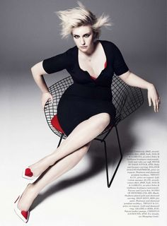 Lena Dunham gets edgy for ELLE // Photo: Paola Kudacki