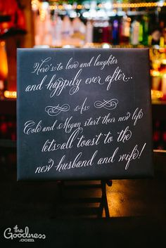 @Michell Duncan - Cute Idea for a Bar Sign on your Big Day :)