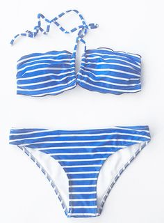 Listen to the sound of sea. The summer vacation is calling! $19.99 Only with free shipping Now to get one perfect beach look! This halter bikini set is detailed with striped printing&high leg cut! Go check it and get surprised at Cupshe.com !