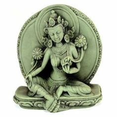 "images buddist godess tara | GREEN TARA STATUE Buddhist Goddess Tibetan 3"" Figure HIGH QUALITY ..."