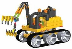K'NEX Collect Build Construction Series #2 Giant Excavator by K'NEX. $29.00. Includes over 200 parts, K'NEXman and battery-powered motor. Other Construction Crew Series sets available: Bulldozer, Dump Truck, Excavator, Front Loader, Steam Roller Backhoe. Use the spare parts to build portion of house. #6 of in the Construction Crew Series. For Ages 5+. From the Manufacturer                Collect Build the Giant Excavator, #6 of in the Construction Crew Series! T...