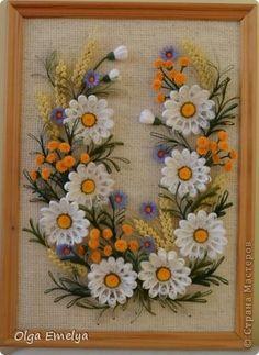 Всем доброго дня! Собрала полевые цветочки, посадила на льняную канву. Как вам? фото 1