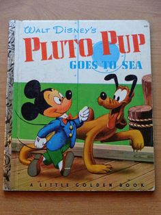 Little Golden Book - Walt Disney's Pluto Pup goes to Sea