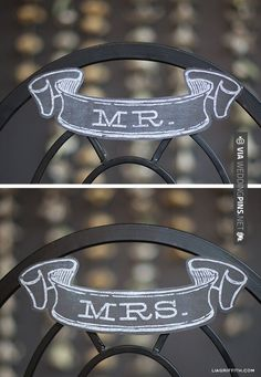Fantastic - Free Printable: Mr & Mrs Banner in Chalkboard Style | CHECK OUT MORE GREAT BLACK AND WHITE WEDDING IDEAS AT WEDDINGPINS.NET | #weddings #wedding #blackandwhitewedding #blackandwhiteweddingphotos #events #forweddings #iloveweddings #blackandwhite #romance #vintage #blackwedding #planners #whitewedding #ceremonyphotos #weddingphotos #weddingpictures
