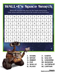 Free Printables, Downloads, and Activities to Disney's Animated Film Wall-E | SKGaleana