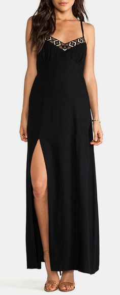 Bobi BLACK Maxi Dress in Black...love the look of maxi dresses, but they have to be just right. Otherwise they make me look too short.