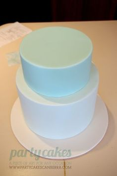 Put 7inch cake on top