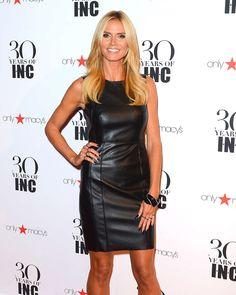 Heidi Klum in lovely leather dress