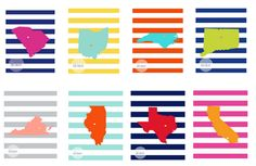 Free printable: find your state or country!