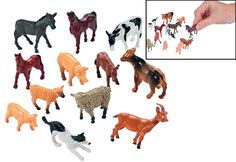 Our 12 Farm Animal Friends are cheap kids' toys that provide hours of barnyard fun! Educational toys for kids 3 and up, use playtime with your youngster . Farm Animal Toys, Farm Animal Party, Baby Farm Animals, Animals For Kids, Jungle Animals, Cheap Toys For Kids, Kids Toys, Fun Express, Pets For Sale