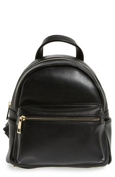 Free shipping and returns on Sole Society  Mini Sadie  Faux Leather  Backpack at Nordstrom 4af4bedc396