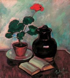 Perlrott-Csaba Vilmos - Muskátli Edvard Munch, Paul Gauguin, Vincent Van Gogh, André Derain, Matisse, Geraniums, Still Life, Paintings, Flowers