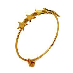 little emblem gold star ring LE-AR66yg #littleemblem #ring #gold #star #ruby #em #emgrp