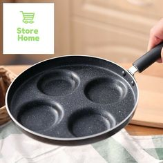 10 in Non-Stick Frying Pan Aluminium Alloy 4 Units Cookware Fry #Meltset