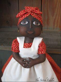 African American Cloth Doll by Bethann Scott The Stitch Fiddler