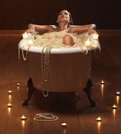 Luxurious pearls bath
