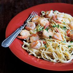 Shrimp Scampi And Pasta - Cuisine Noir Magazine Fish Dishes, Pasta Dishes, Main Dishes, Shrimp Recipes, Pasta Recipes, Salad Recipes, Healthy Recipes, Paella, Seafood Salad