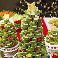 Christmas Appetizers - tree format