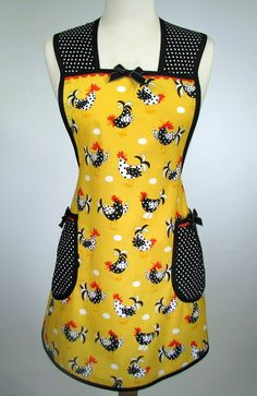 Womens Full Apron Retro Vintage Inspired by SwankyPlaceAprons, $27.50