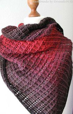 Tuch Fareth – Handmade by AnneluM – Anleitung von Jasmin Räsänen – Knitting Scarf Baby Knitting Patterns, Ravelry Free Knitting Patterns, Lace Knitting, Poncho Crochet, Crochet Pattern, Crochet Lace, Jasmine, 800m, Flat Cap