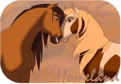 Spirit and Rain falling in love Spirit The Horse, Spirit And Rain, Cute Disney Wallpaper, Cute Cartoon Wallpapers, Arte Disney, Disney Art, Horse Drawings, Animal Drawings, Spirit Drawing