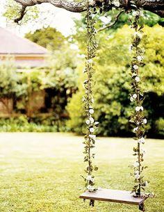 Wedding Swing in back yard