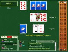 Cribbage game for all platforms: desktops, iPhone, Android, Windows phone www.rubl.com/games/cribbage/  #cribbage #online