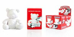 Paper Teddy : Decorate with greetings and send through the post