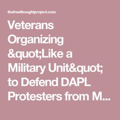"Veterans Organizing ""Like a Military Unit"" to Defend DAPL Protesters from Militarized Police"