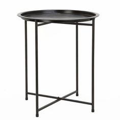 Scandinavian style, minimal and modern sturdy iron round tray table.
