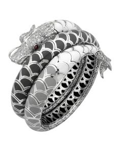 Naga Enamel Ombre Coil Bracelet with Pave White Sapphires by John Hardy at Neiman Marcus.