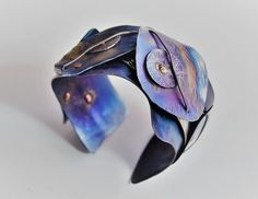 Items similar to River Flows Anodized Titanium Bracelet. Design Jewelry, Bangle Bracelet, on Etsy Titanium Jewelry, Titanium Rings, Emerald Cut Sapphire Ring, Jewelry Art, Jewelry Design, Living Colors, Hand Wrist, Metal Casting, Bangle Bracelets