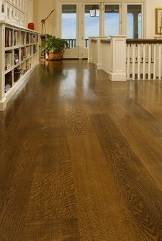 Awesome wide plank flooring in white oak. Timeless look.