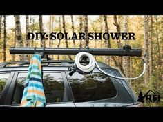 DIY Camp Shower For Your Car Stay clean wherever your adventure takes you. Learn how to build your own car-top 'solar' camp shower. Suv Camping, Camping Checklist, Family Camping, Camping Hacks, Outdoor Camping, Camping Gadgets, Solar Camping, Camping Hammock, Women Camping