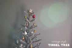 Vintage Style Tinsel Tree