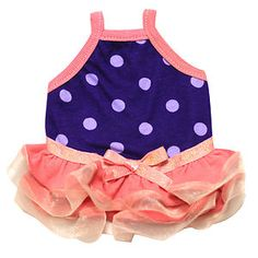 leanie would look adorable in this!!  Guinea Pig Dress (Purple Polkadots-B) I will never buy clothes for my pigs but its adorable.