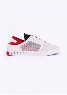 Y3 / Adidas - Yohji Yamamoto Lazelle Trainers - White / Red