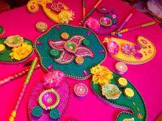 Hand made mehndi plates
