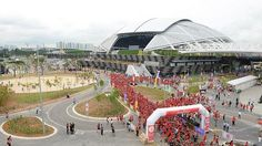 Singapore Sports Hub open house on June 27, 2014. www.straitstimes.com Photo: Desmond Wee/The Straits Times