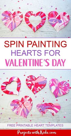 Easy Heart Spin Painting for Valentine& Day is part of Kids Crafts Projects Awesome Spin painting hearts make the perfect Valentine& Day art project for kids Kids will have a blast spinning their - Kinder Valentines, Valentine Theme, Valentines Day Activities, Valentine's Day Crafts For Kids, Valentine Crafts For Kids, Cool Crafts For Kids, Easy Art Projects, Projects For Kids, Heart Projects